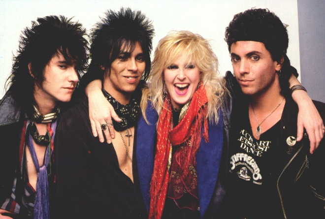 Lita Ford med band 1984