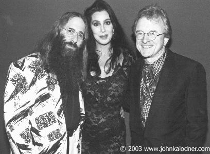 John Kalodner, Cher & Peter Asher 1989